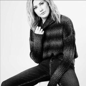 NWT Anthropologie Gray Turtleneck Sweater Sz S